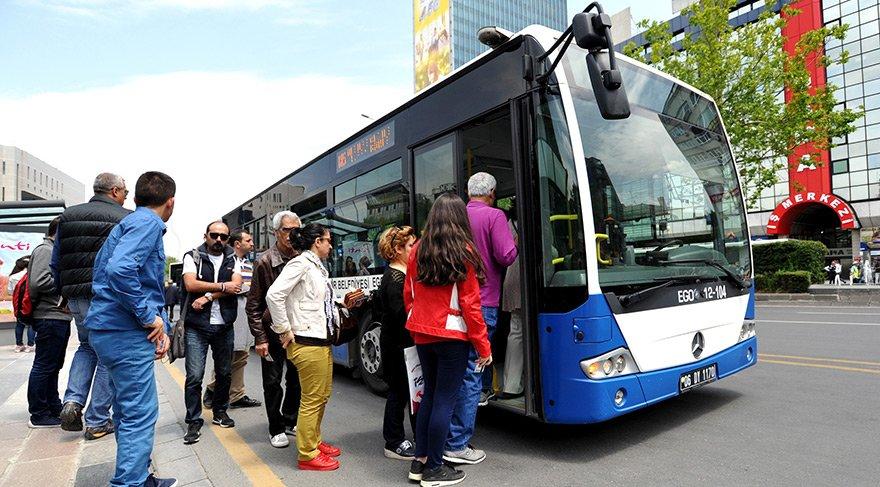 Ankara'da ulaşım haftasonu ücretsiz