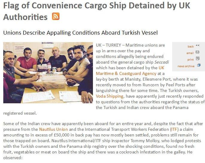Handy Shipping Guide'da çıkan haber.