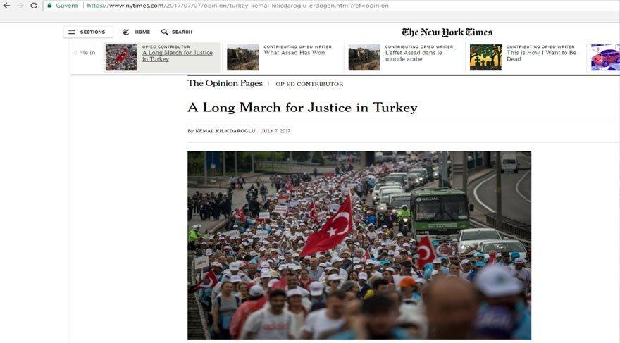 Kemal Kılıçdaroğlu'ndan New York Times'a yazı