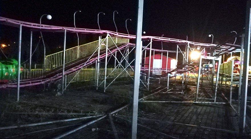 Kırşehir'de lunaparkta eğlence treni devrildi: 1 ölü, 1'i ağır 3 yaralı