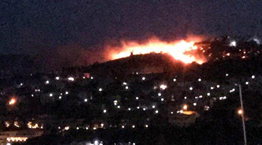 Bodrum'daki yangın yaklaşık 3 saatte kontrol altına alındı