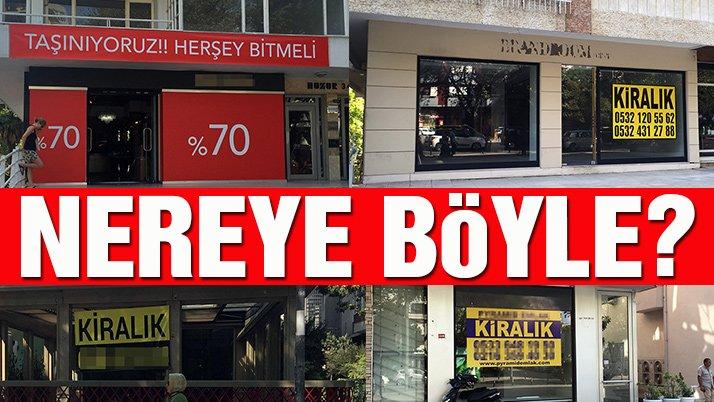 İstanbul'un üç büyük caddesinde boş mağaza sayısı artıyor