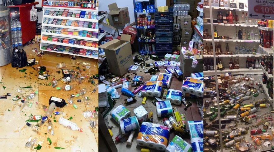 Deprem sonrası feci görüntüler... Maddi kayıp büyük!