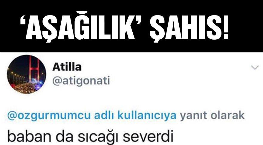 Özgür Mumcu'ya aşağılık tweet