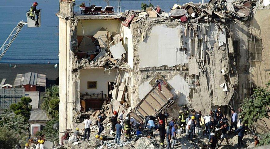 İtalya'da 5 katlı bina çöktü