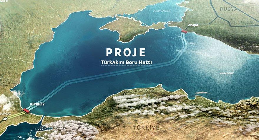 Türk Akımı projesinin güzergahı. HARİTA: turkstream.info