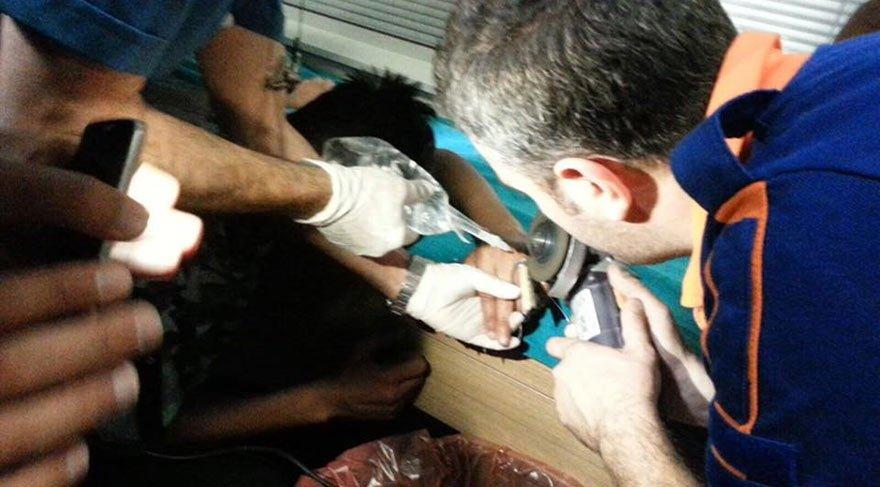 Suriye uyruklu kadın parmaklarını kıyma makinesine kaptırdı