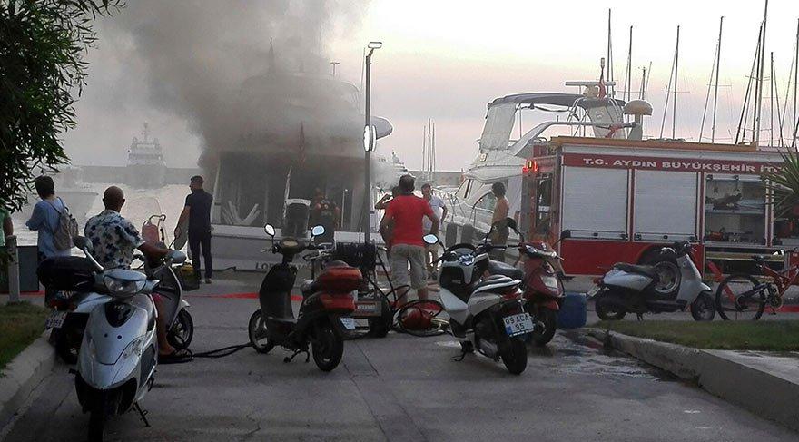 Marinada yangın! Herkes korkuyla izledi