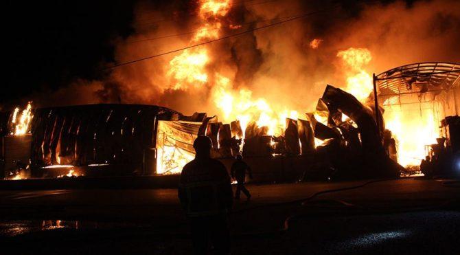 İzmit'teki yangın 3 saat süren çalışmanın ardından kontrol altına alındı