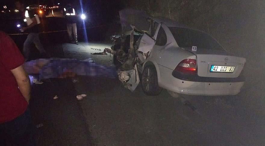 Konya'da feci kaza; 2 ölü