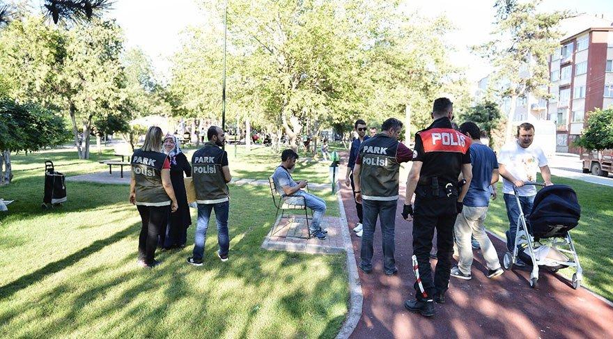 'Mobil Park Polisi' ekiplerinden asayiş uygulaması