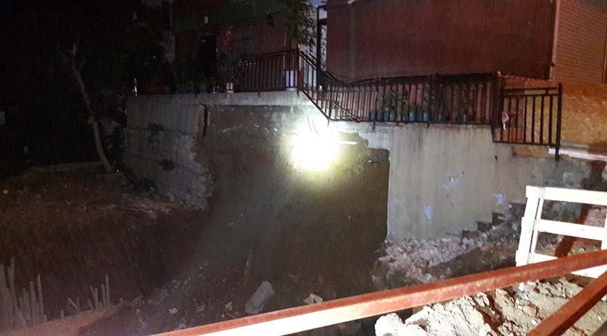 İstanbul Şişli'de göçük: Apartman boşaltıldı
