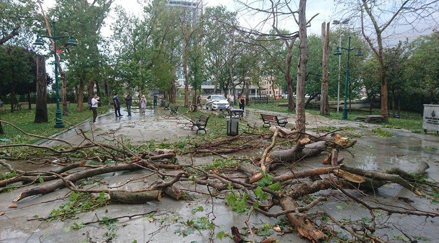 Fırtınada yaralandılar, 2 kişinin durumu ağır
