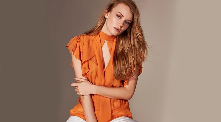 Bu senenin trendi elbiseler, etek ve bluzlarda 'volan'