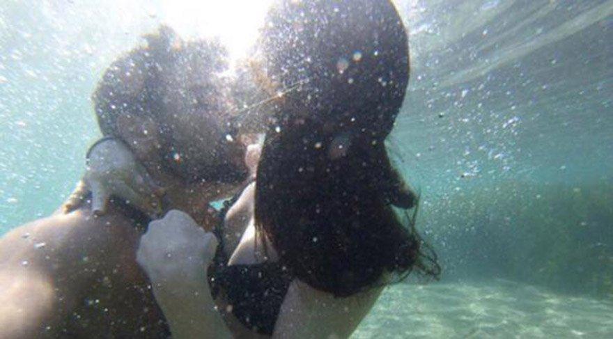 Rüzgar aşkını denizin altında gösterdi