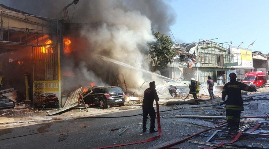 Samsun'da sanayi sitesinde patlama! Şehri kara dumanlar kapladı