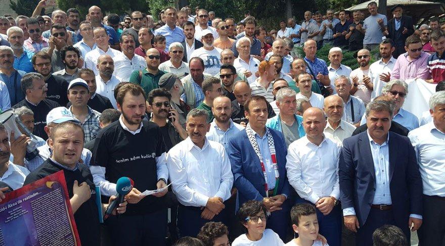 Samsun Valisi İsrail protestosunda