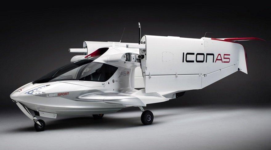 Katlanan kanatlı kişisel amfibik uçak: ICON A5