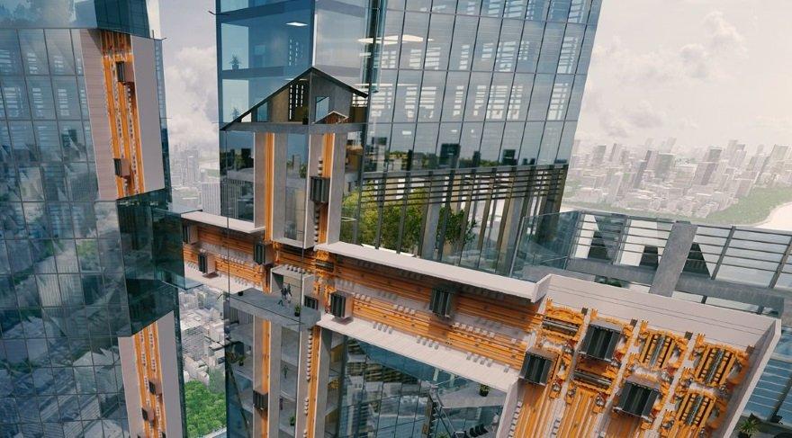İster dikey, ister yatay: Bu asansör her yere gidebiliyor