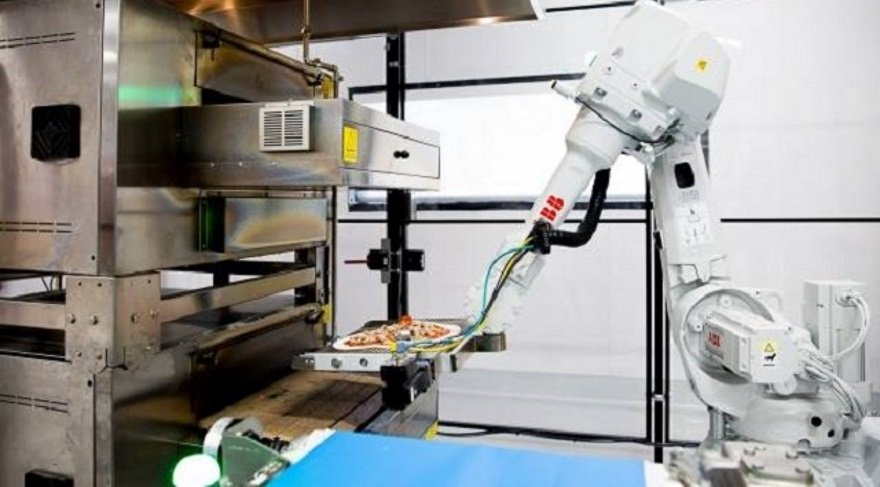 Gelecekte tüm pizzaları robotlar yapacak!