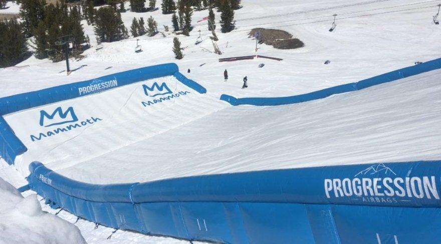 Yazın bile snowboard yapmanızı sağlayan dev airbag