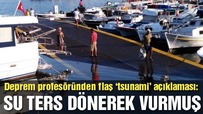 Prof. Zafer Akçığ: Su ters dönerek güçlü bir şekilde kıyıya vurmuş