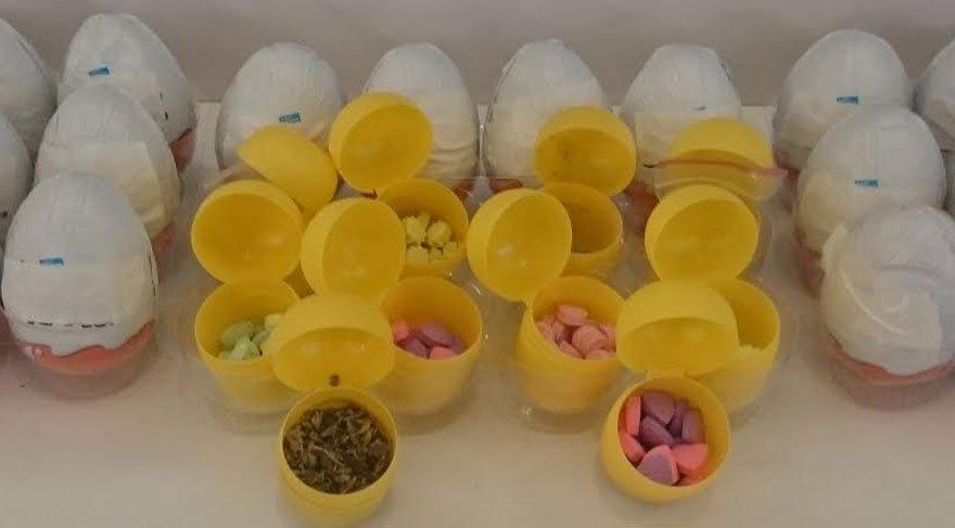 Sürpriz yumurtadan uyuşturucu çıktı