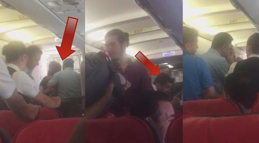 THY uçağında karı-koca kavgası… Yolcular dehşeti yaşadı…