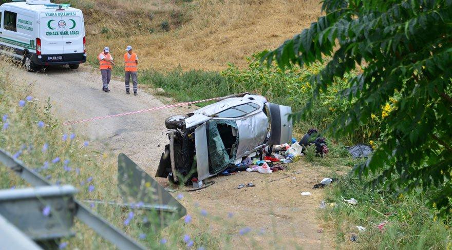 Erbaa'da feci kaza: 3 ölü, 5 yaralı
