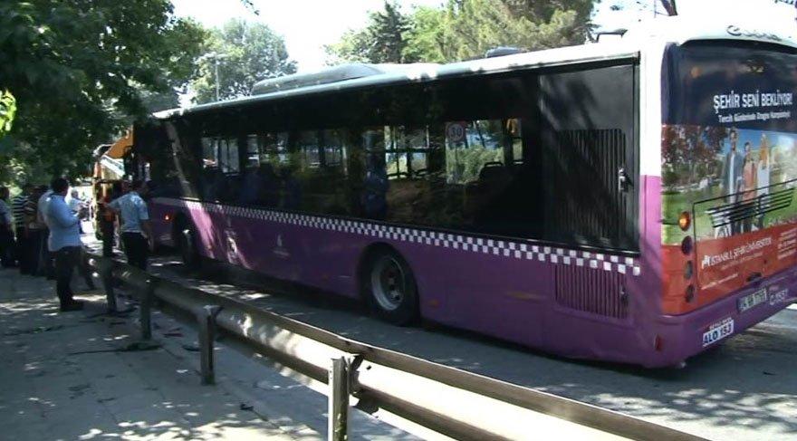 Beylerbeyi Tüneli'nde facia! Otobüs 10 otomobile çarptı