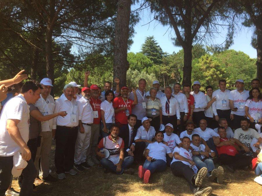 FOTO:SÖZCÜ- CHP'li vekiller son yürüyüşlerini yaparak Adalet Buluşması'na katılacaklar.