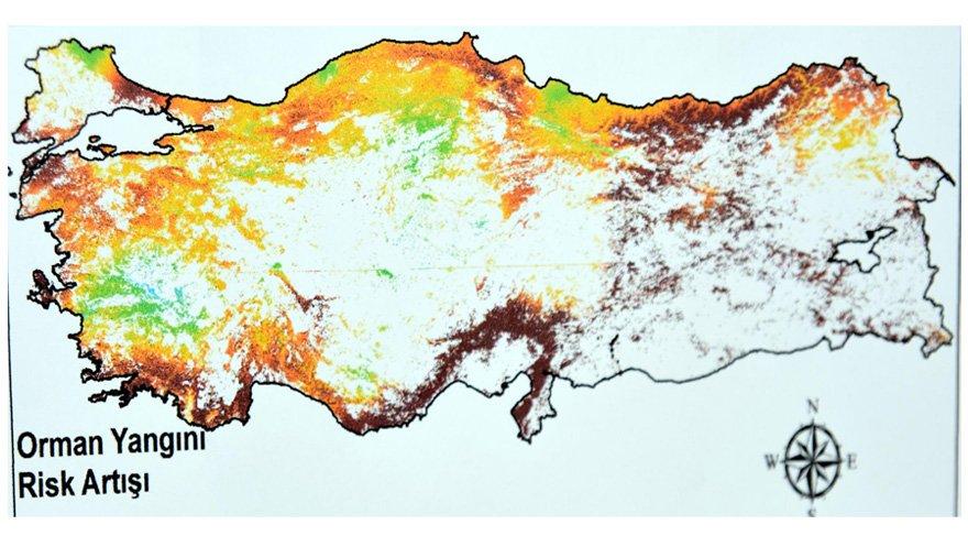 Türkiye'yi orman yangınları konusunda gelecekte bekleyen tehlike