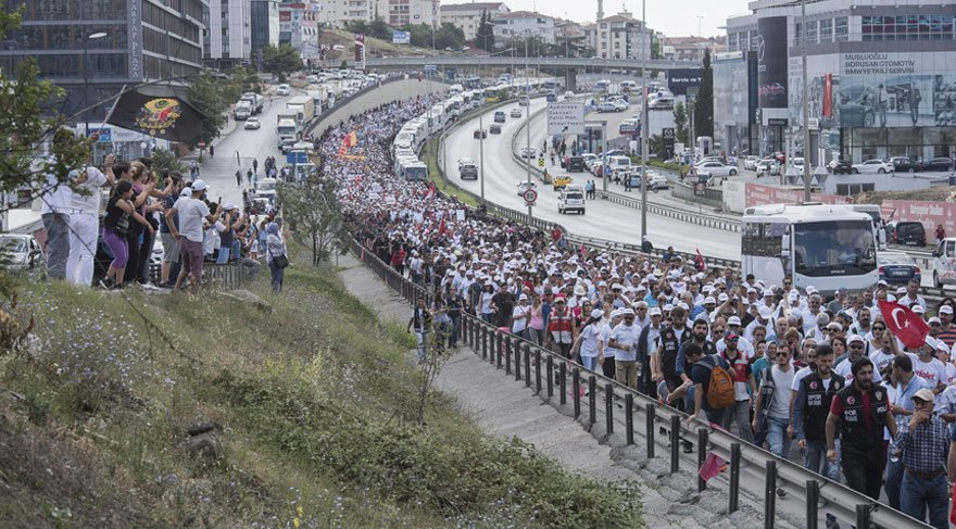 Adalet Yürüyüşü'nde yirmi dördüncü gün böyle geçti...