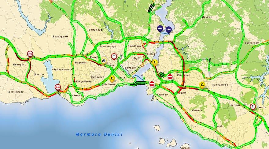 İstanbul'da bazı yollar trafiğe kapatıldı... İşte detaylar