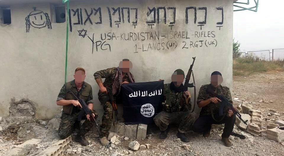 Gözaltına alınan İngiliz'in IŞİD bayrağıyla çekilen fotoğrafı da dikkat çekti.
