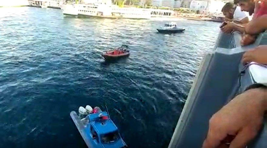 Galata Köprüsü'nde intihar girişimi!
