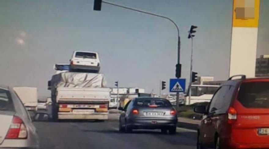 Sürücüleri şok eden görüntü!