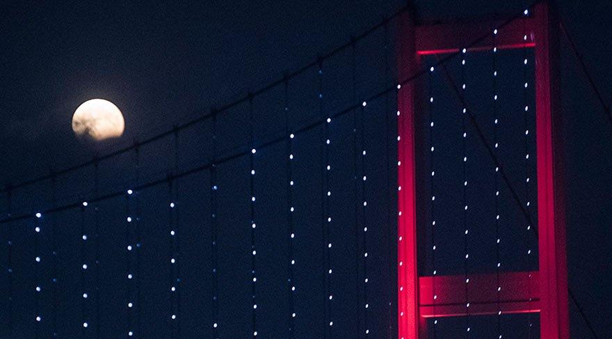 Ay tutulması saat kaçta, nereden izlenebilecek? Parçalı ay tutulması başlıyor!