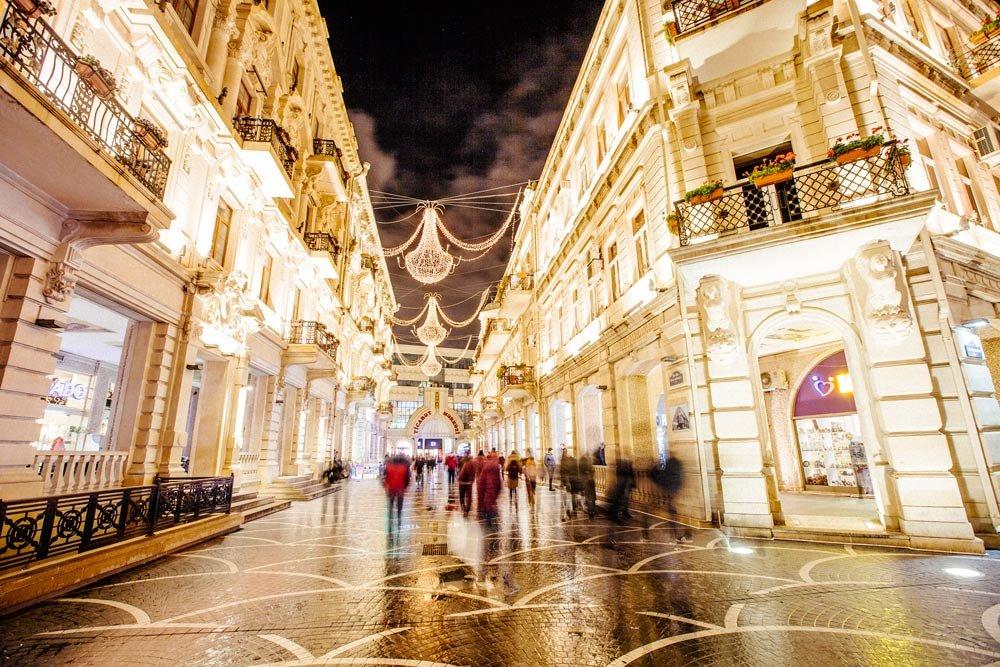 Tagiyev'de bulunan Nizami Meydanı.