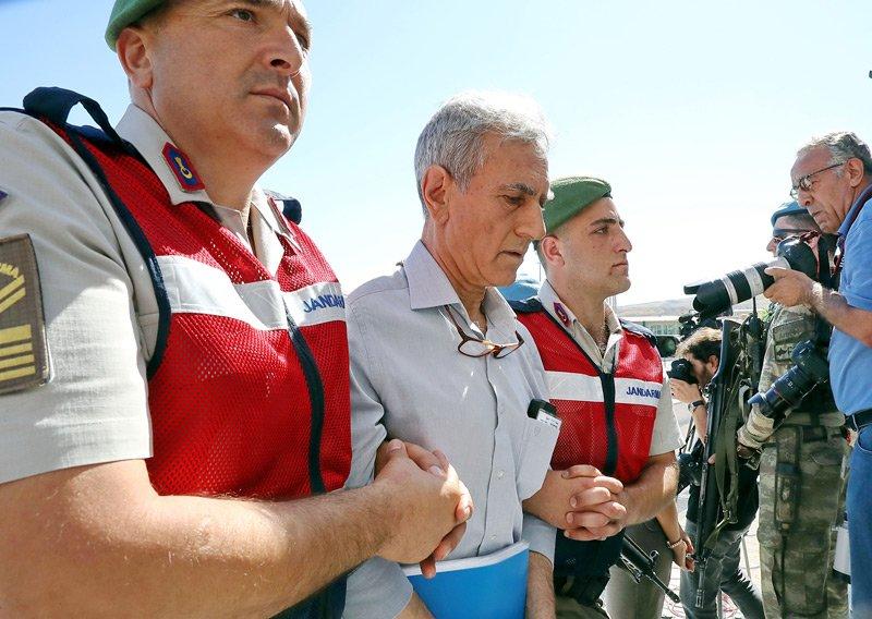 FOTO:DHA - Akıncı Üssü davasının 5'nci celsesinde Akın Öztürk savunma yaptı.