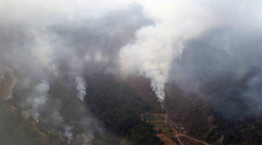 Amanoslar'da PKK'lı teröristler 7 hektar makilik alanı yaktı