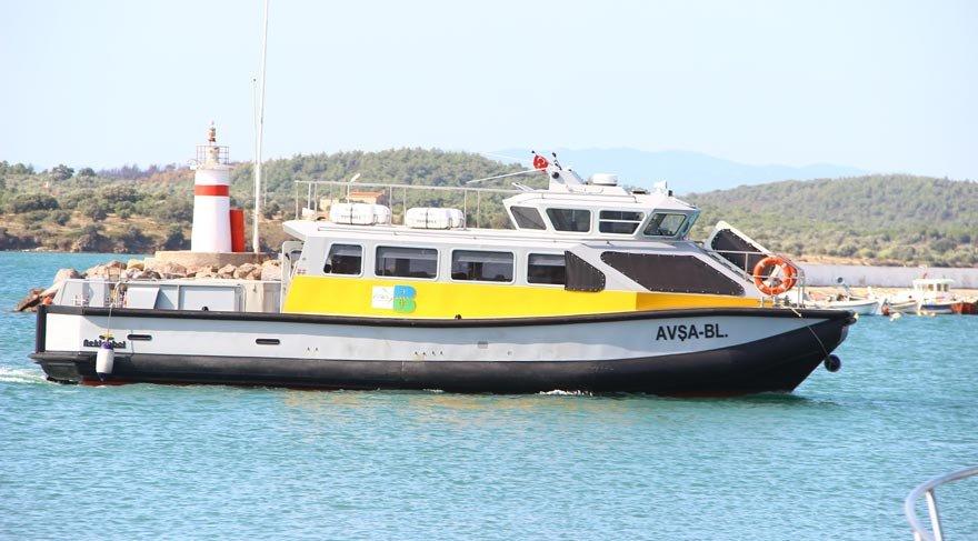 Cunda-Altınoluk arası deniz otobüsü başladı