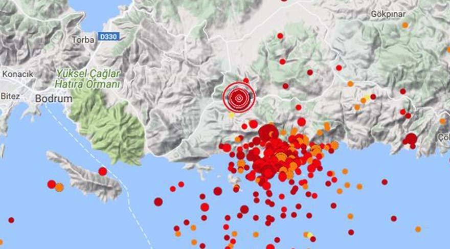 Alman profesör, Bodrum'da son dönemde sıklıkla deprem meydana gelmesini de değerlendirdi.