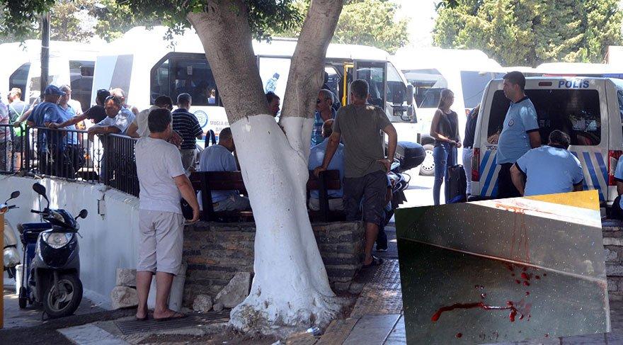Bodrum otogar müdürünü, minibüs şoförünü vurdu