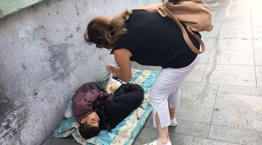 İstanbul'un göbeğinde yürek burkan görüntü