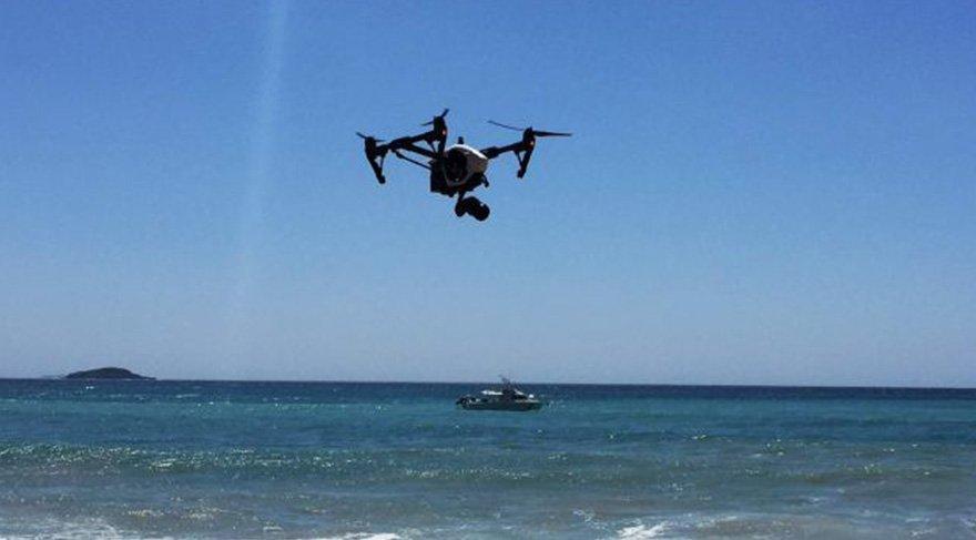 Köpek balıkları drone ile görüntülendi