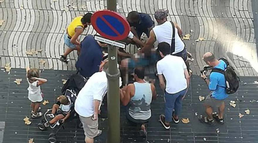 Dünyadan Barcelona saldırısına ilk tepkiler