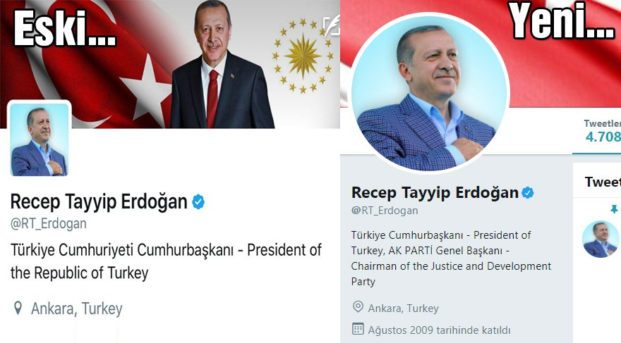 İşte Cumhurbaşkanı Erdoğan'ın twitter hesabı...