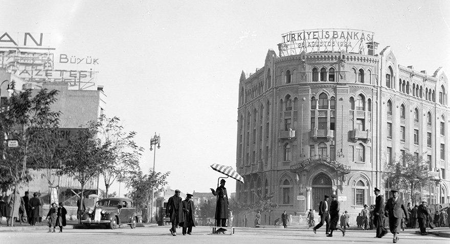 İş Bankası'nın Ankara İstasyon Caddesi üzerindeki ilk binası. Fotoğraf: Depo Photos