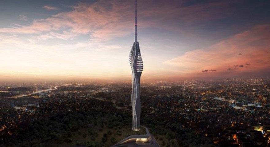 Çamlıca Kulesi bittiğinde böyle olacak. Fotoğraf: Sarıdağlar İnşaat
